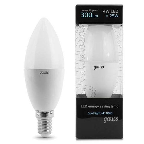 LED žarnica Gauss E14 4W 300lm 4100K hladna bela