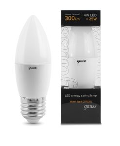 LED žarnica Gauss Candle E27 4W 2700K