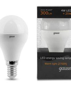 LED žarnica Gauss Globe E14 4W 2700K