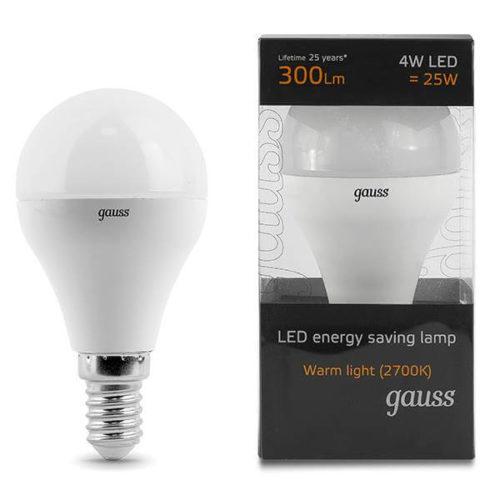 LED žarnica Gauss E14 4W 2700K dekorativna 2