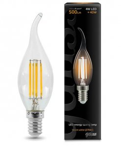 LED žarnica Gauss Filament Cand-tail E14 4W 2700K
