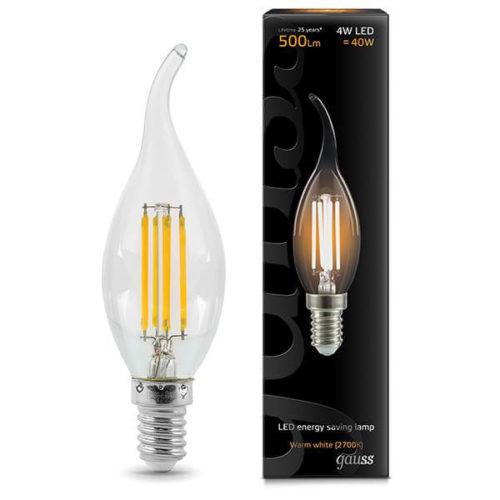 LED žarnica Gauss E14 4W 2700K plamen