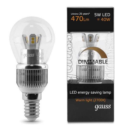 LED žarnica Gauss E14 5W 2700K moznost zatemnitve