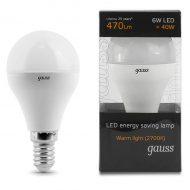 LED žarnica Gauss Globe E14 6W 2700K