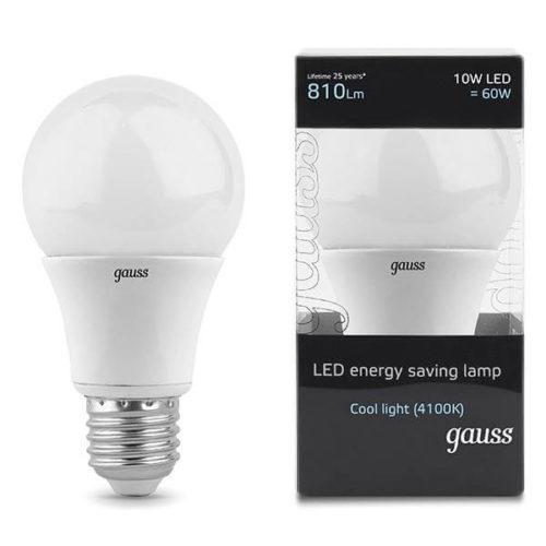 LED žarnica Gauss E27 10W 4100K