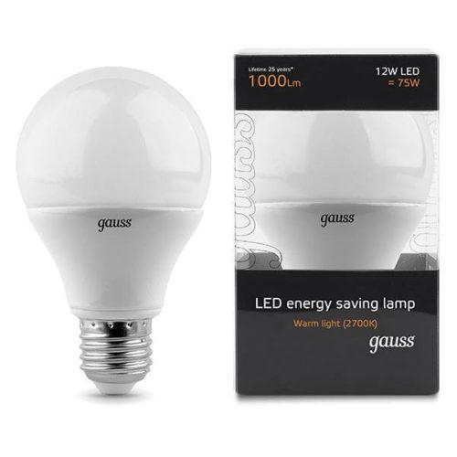 LED žarnica Gauss E27 12W 2700K