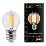 LED žarnica Gauss Filament Globe E27 4W 2700K