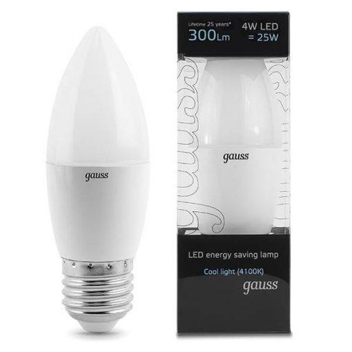 LED žarnica Gauss E27 4W 2700K