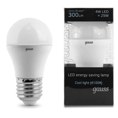 LED žarnica Gauss E27 4W 4100K
