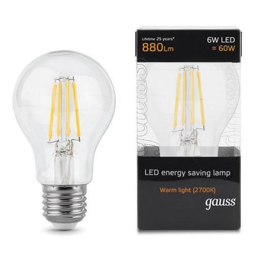 LED žarnica Gauss E27 6W 2700K