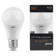 LED žarnica Gauss GLS E27 6W 2700K