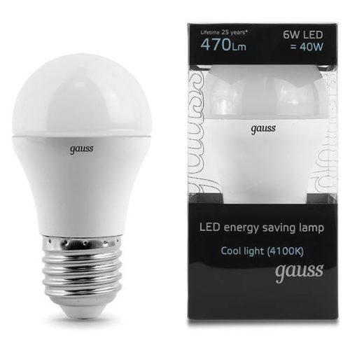 LED žarnica Gauss E27 6W 4100K dekorativna