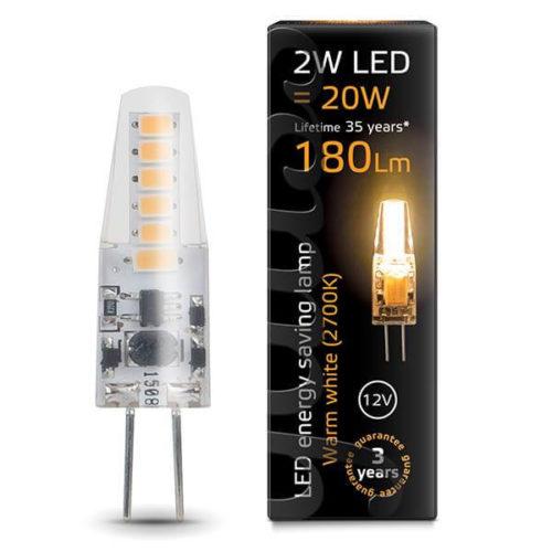 LED žarnica Gauss G4 2W 2700K