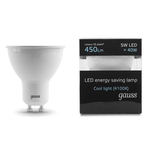 LED žarnica Gauss GU10 5W 4100K