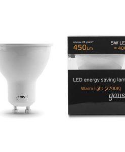 LED žarnica Gauss GU10 5W 2700K