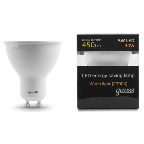 LED žarnica Gauss GU5.3 5W 2700K