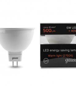 LED žarnica Gauss MR16 6W 2700K