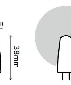 LED žarnica Gauss EG4 2W 2700K