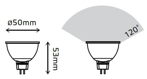 LED žarnica Gauss MR16 5W 4100K