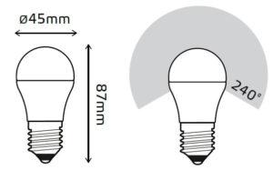 LED žarnica Gauss Globe E27 4W 4100K