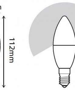LED žarnica Gauss Candle E14 6W 2700K