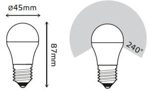 LED žarnica Gauss Globe E27 6W