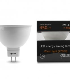 LED žarnica Gauss MR16 5W 2700K