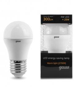 LED žarnica Gauss Globe E27 4W 2700K