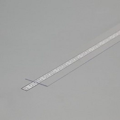Difuzor za ALU profil J, 2m prosojen