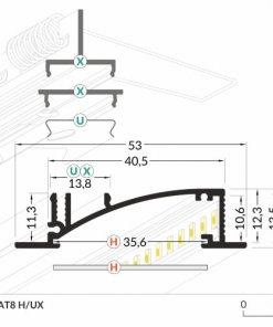 LED_profile_FLAT8_dimensions_500