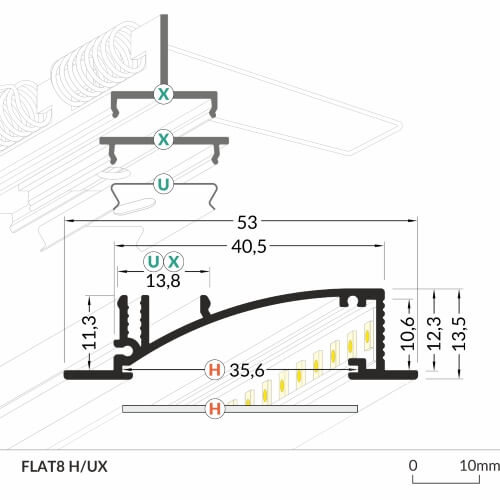 LED_profile_FLAT8_dimensions_500