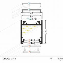 LED_profile_LINEA20_dimensions_500
