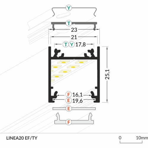 LED_profile_LINEA20_dimensions_500