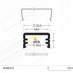 LED_profile_SLIM8_dimensions_500