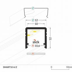 LED_profile_SMART10_dimensions_500