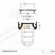 LED_profile_SURFACE10_dimensions_500