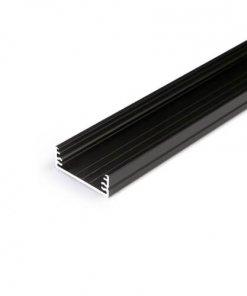 Alu profil WIDE24 G/W, 2m, eloksiran črne barve