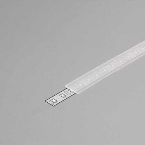 Difuzor za ALU profil J, 2m, polprosojen