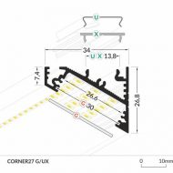 LED_profile_CORNER27_dimensions_500