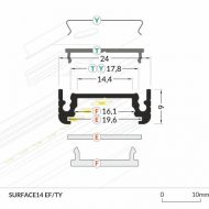 LED_profile_SURFACE14_dimensions_500