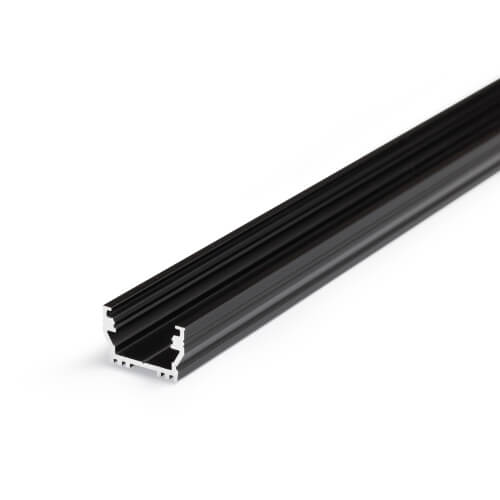 Alu profil UNI12 BCD/U, 2m, eloksiran črne barve