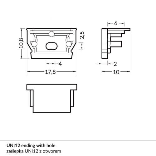 UNI12_ending_with_hole_dimensions_500