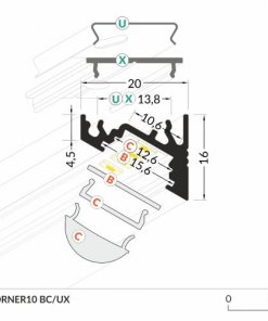 LED_profile_CORNER10_dimensions_500