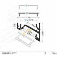 LED_profile_CORNER14_dimensions_500