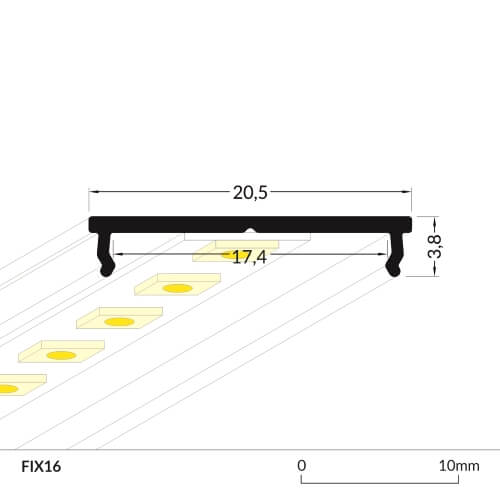 LED_profile_FIX16_dimensions_500