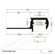 LED_profile_OUTSTAIRS12_dimensions_500