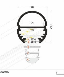 LED_profile_OVAL20_dimensions_500