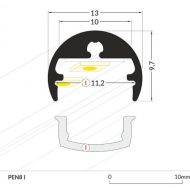 LED_profile_PEN8_dimensions_500