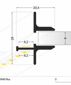 LED_profile_TWIN8_Plus_dimensions_500