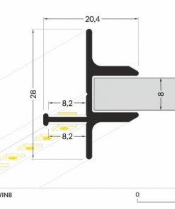 LED_profile_TWIN8_dimensions_500